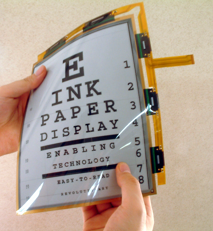 E-Ink Electronic ink flexible foldable display