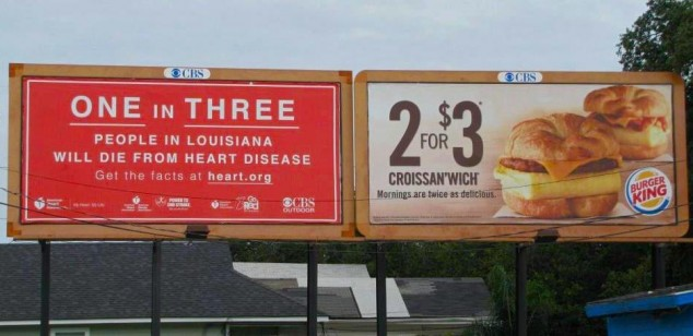 Heart Disease Burger King Billboards