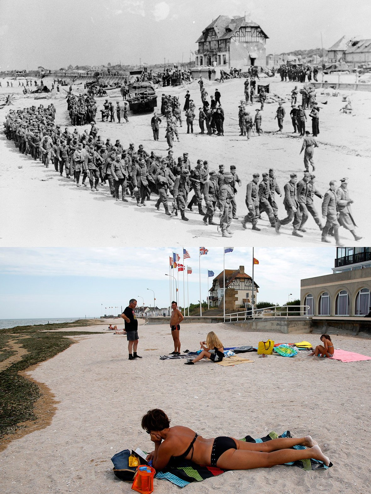 Normandy then and now 1