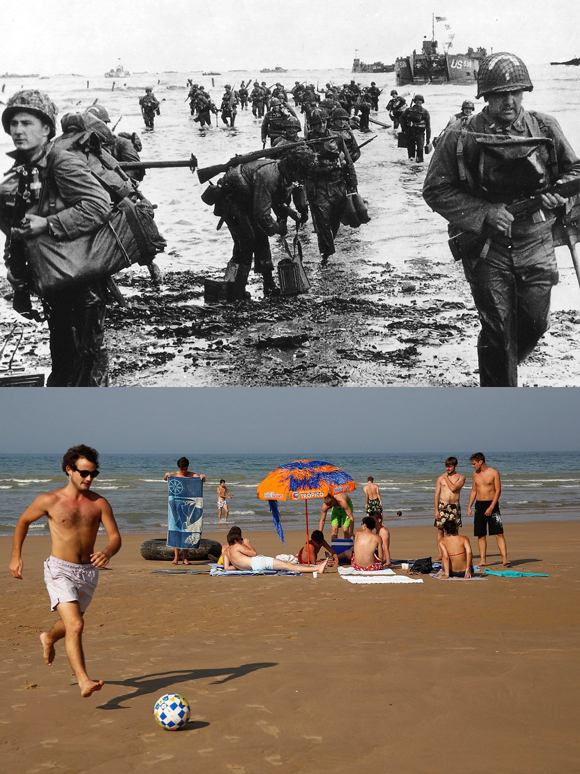 Normandy then and now 2
