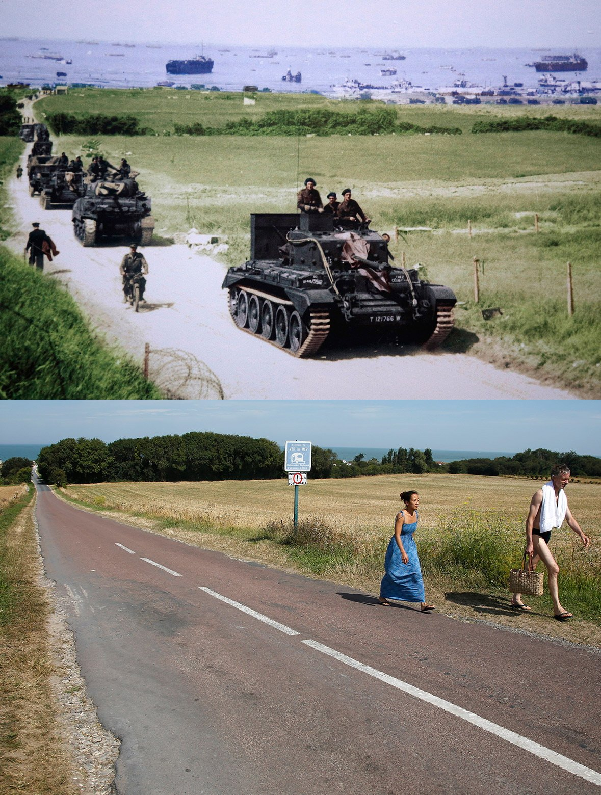 Normandy then and now 3