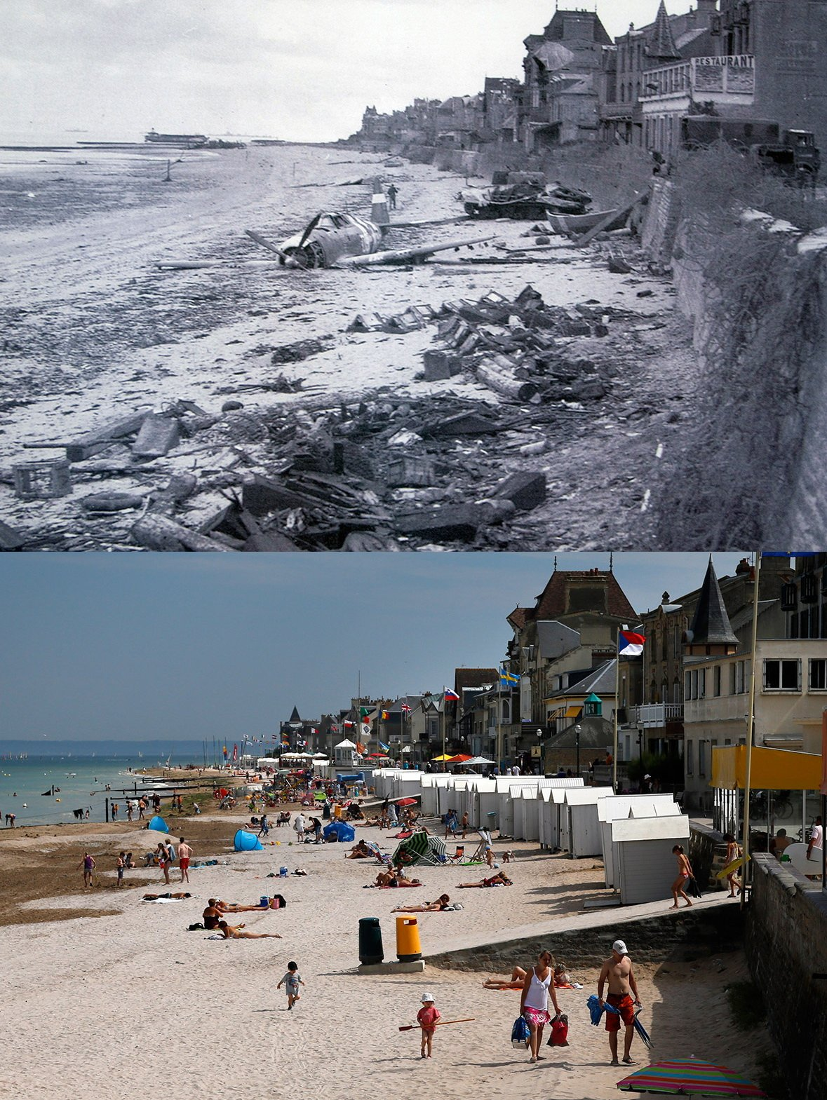 Normandy then and now 4