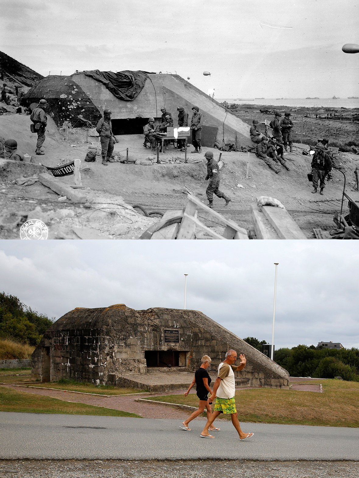 Normandy then and now 5