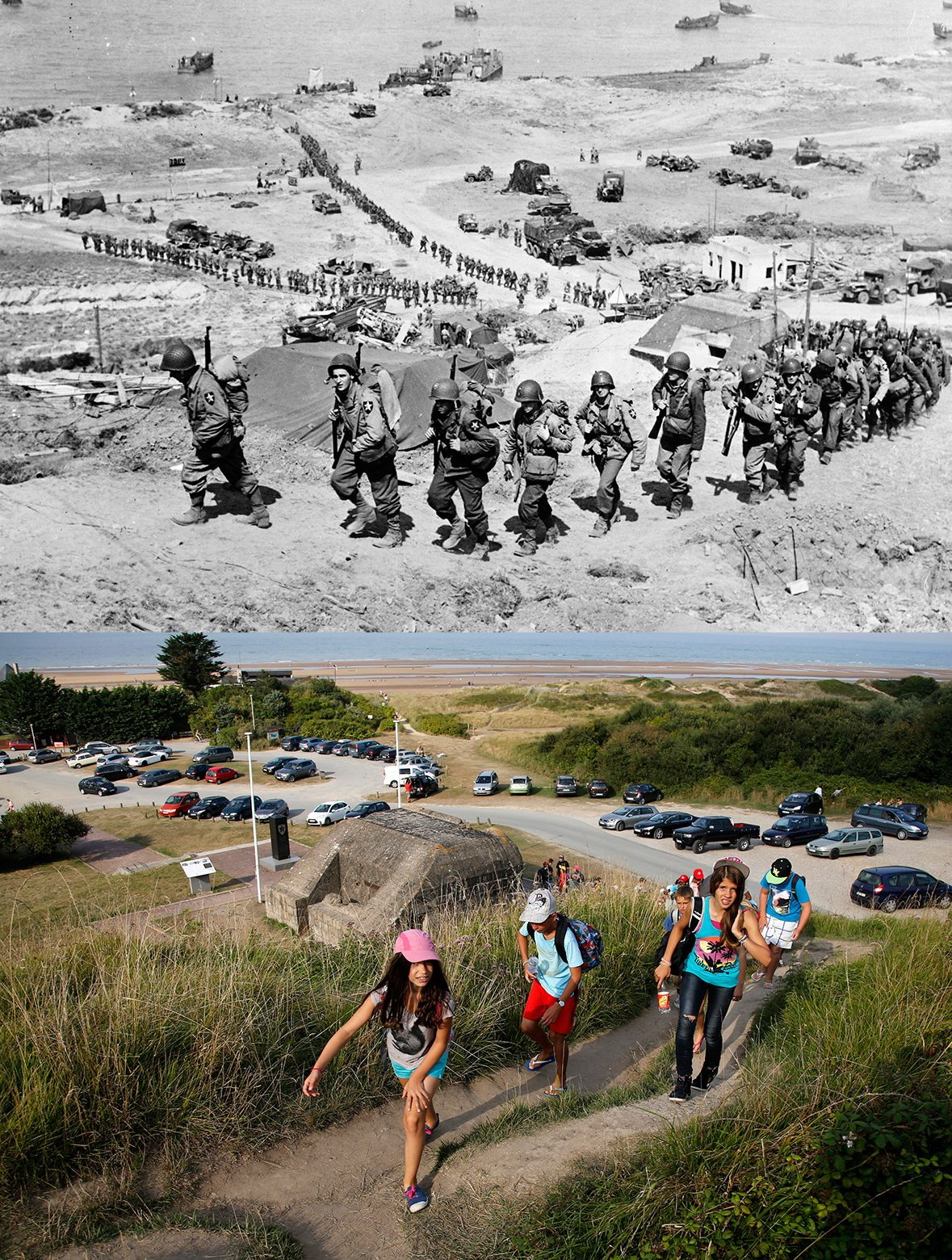 Normandy then and now 6
