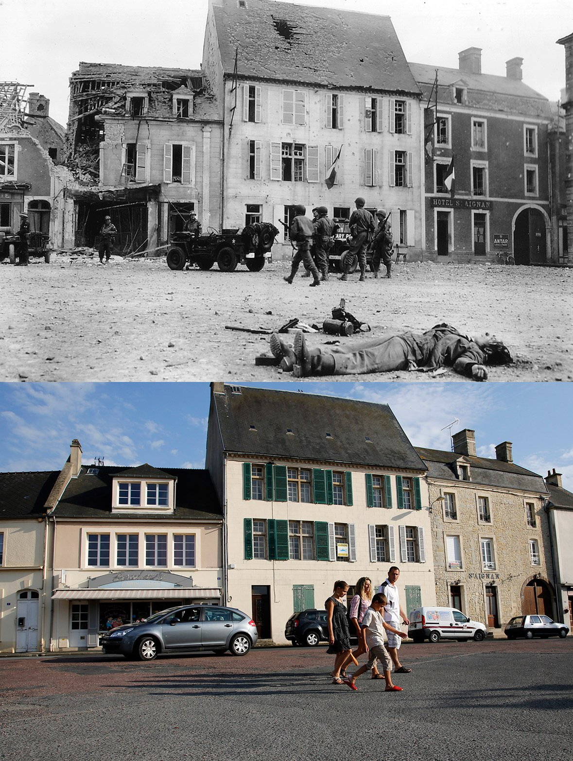 Normandy then and now 8