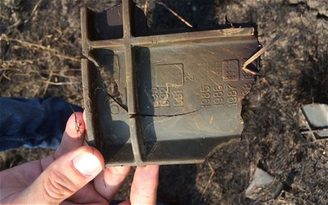 MH17 artifact - (Pic. Christopher Miller - The Telegraph)