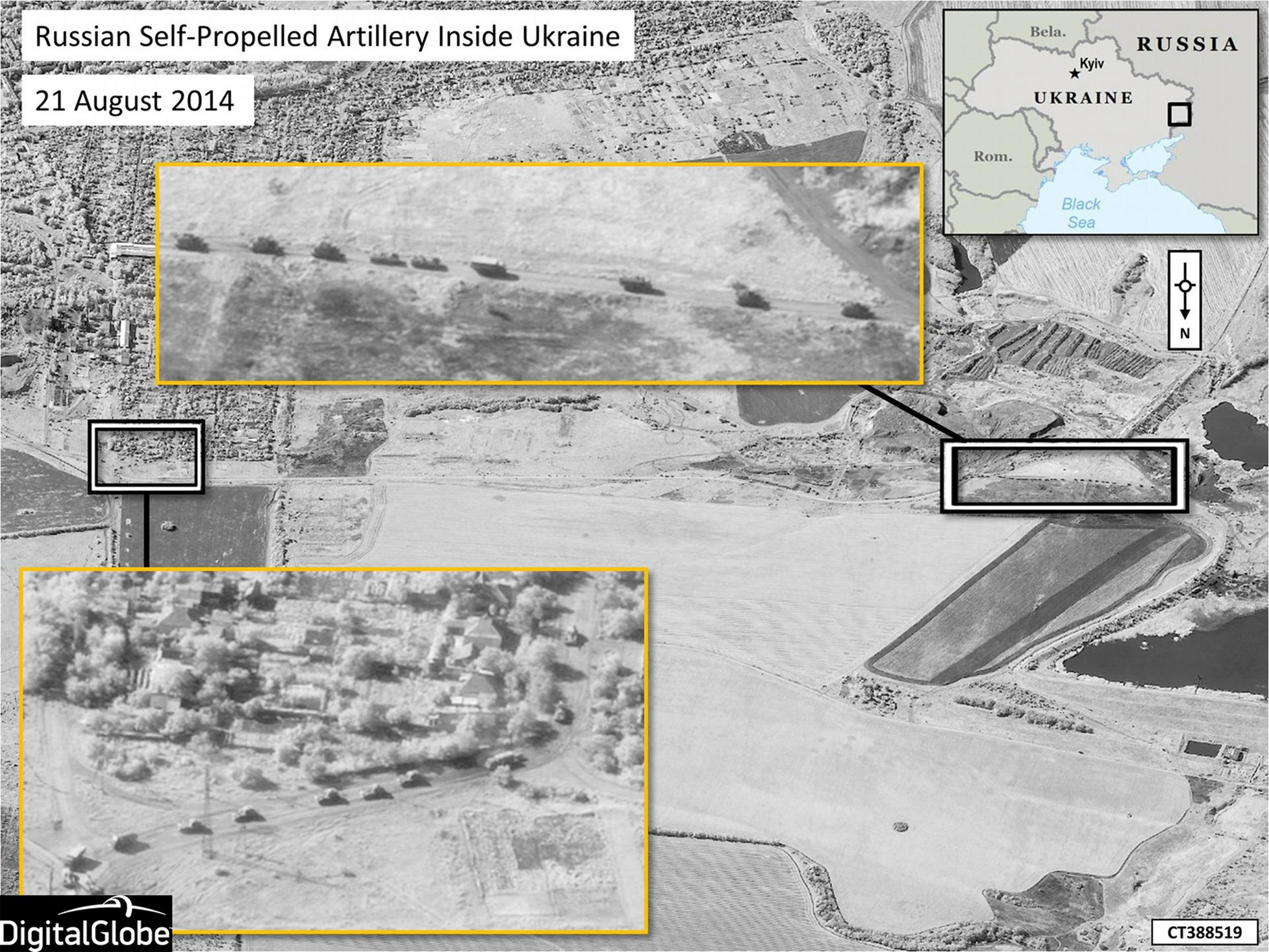 NATO satellite images Urkaine