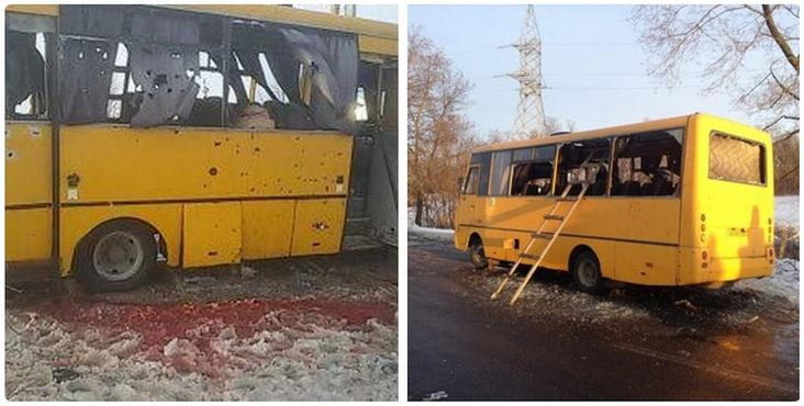 Ukraine Volnovkha Bus 12 Killed