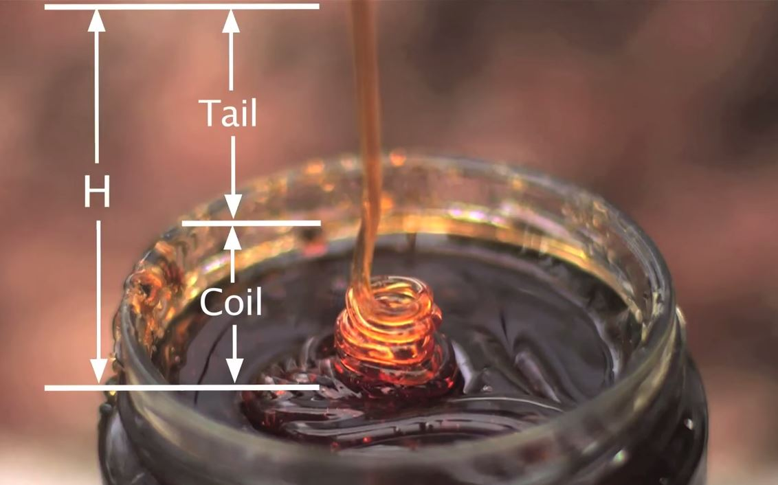 Science Saturday - Liquid Rope Coil Effect - Honey